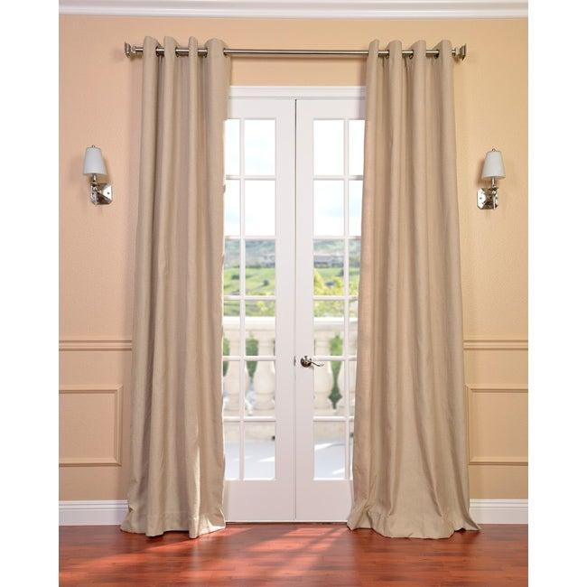 Natural Linen Blend Grommet Curtain Panel