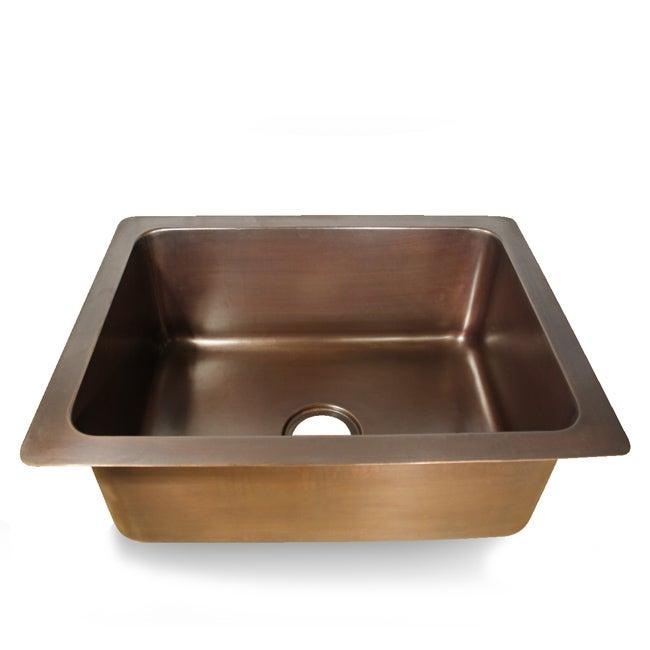 Smooth Copper Dark Finish Undermount Kitchen Sink