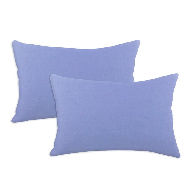 Duck Blue Bonnet S-backed 12.5x19-inch Fiber Pillows (Set of 2)