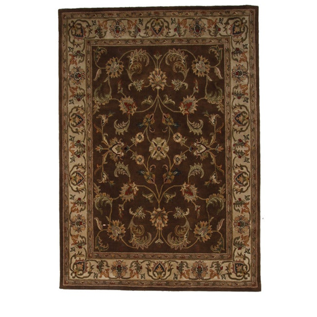 Hand-Tufted Tempest Brown/Beige Area Rug (8' x 10')
