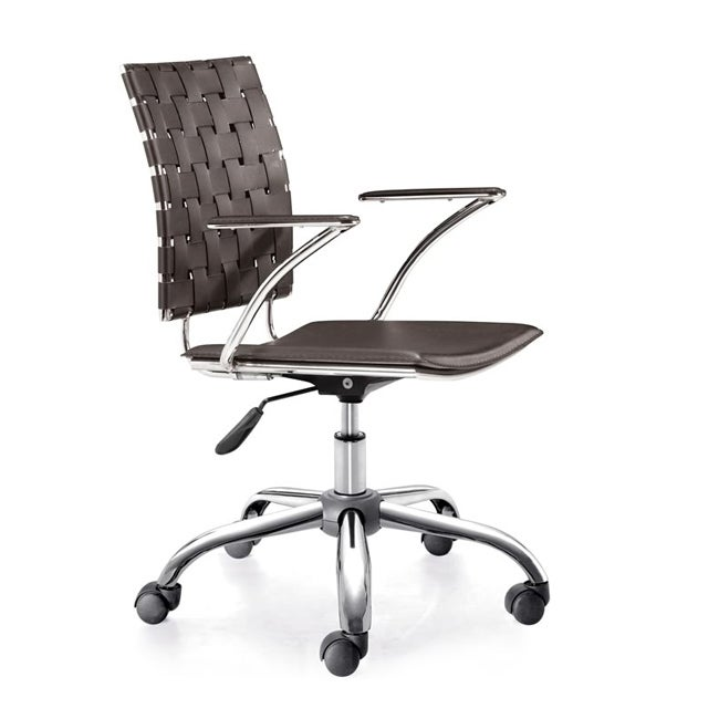 Zuo Criss Cross Espresso Adjustable Office Chair