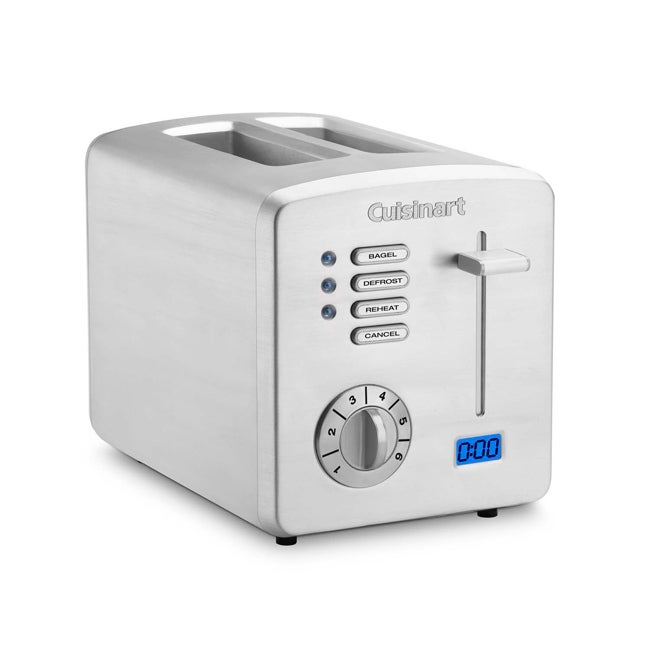 Cuisinart Brushed Stainless Steel 2-slice Toaster with Countdown Timer