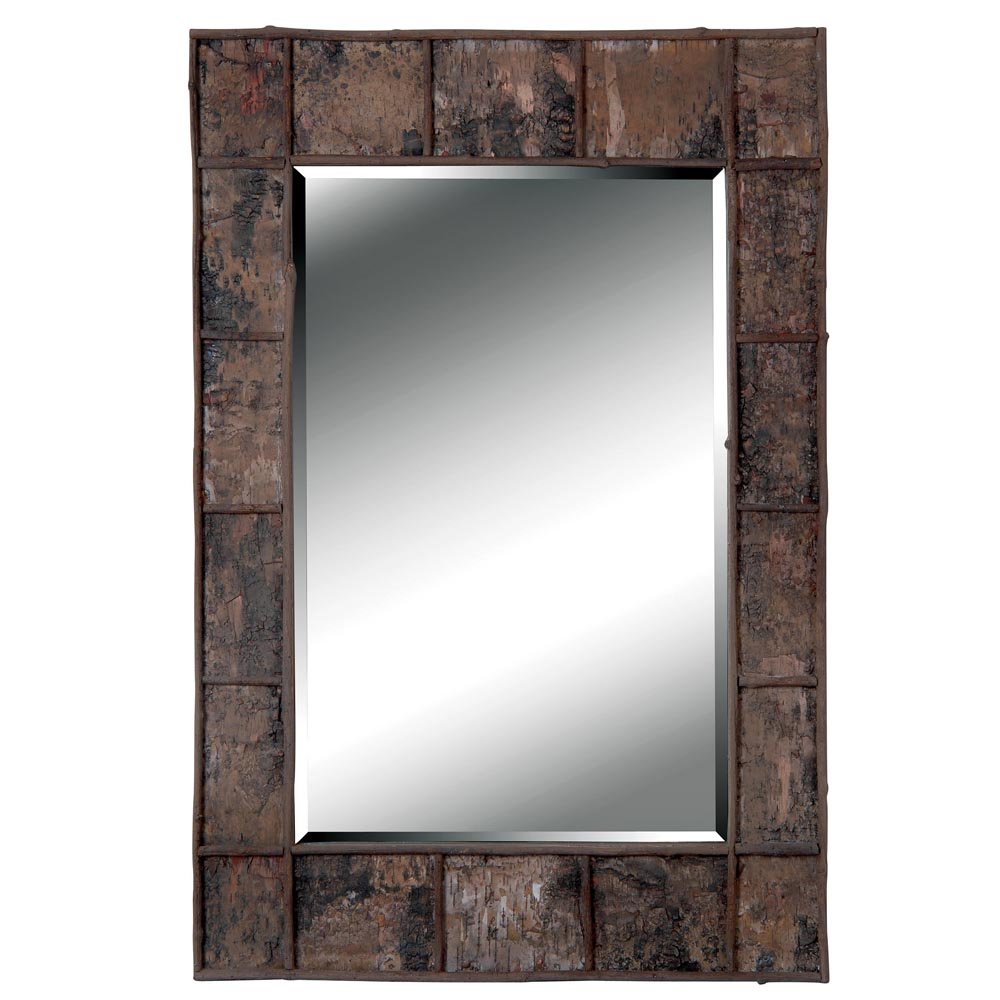 Jobi Birch Bark Wood Wall Mirror Overstock Shopping