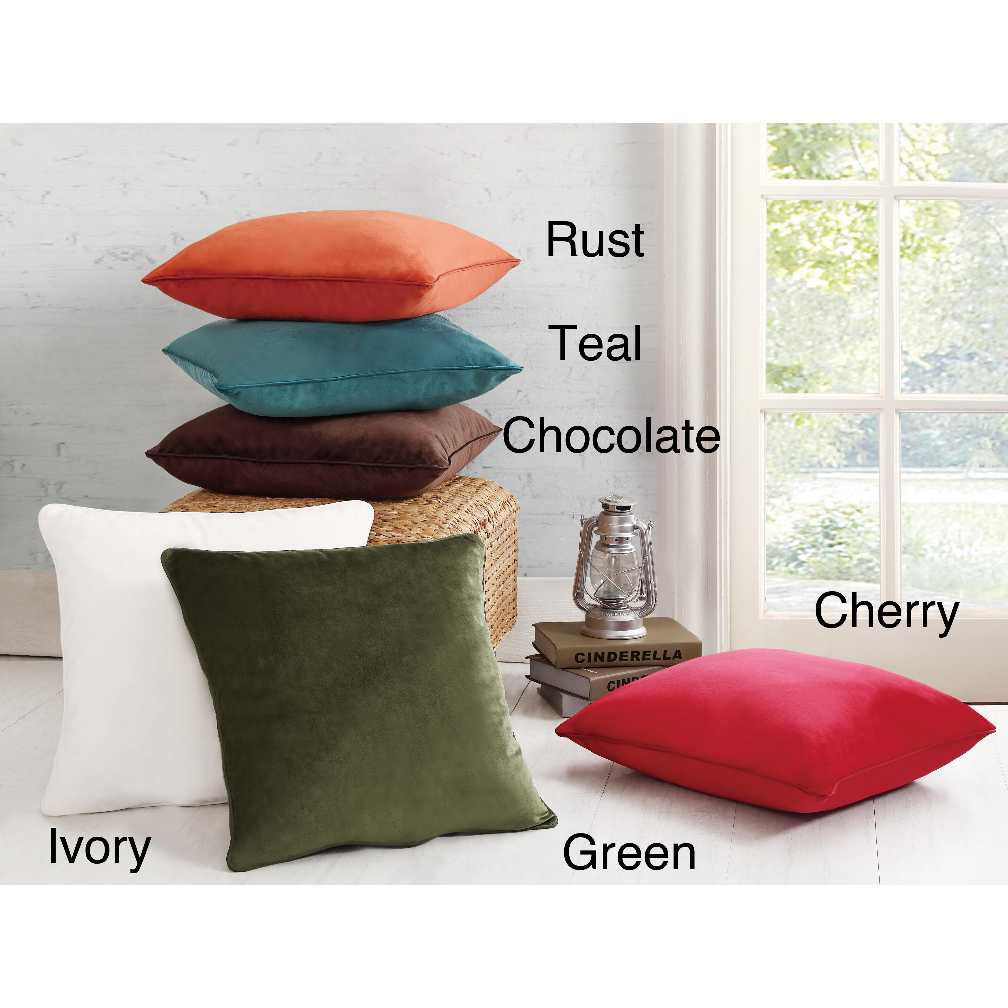 Solid Velvet Decorative Pillows