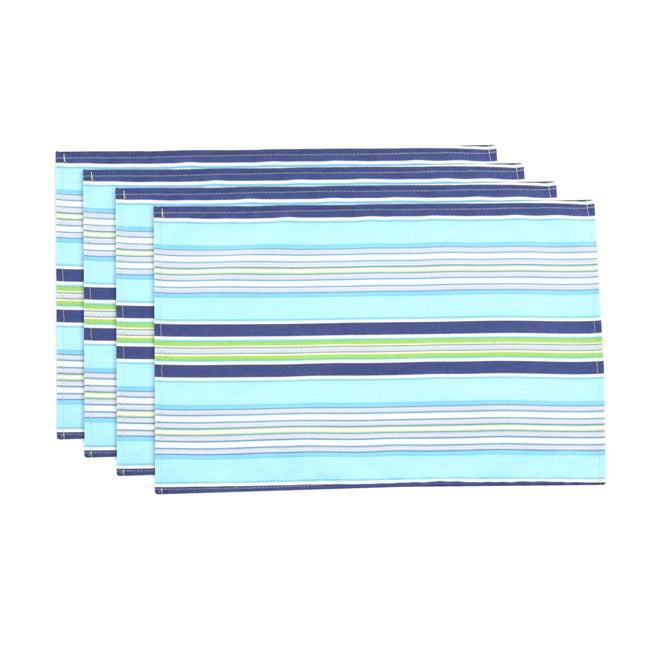 Getaway Stripe Ocean Lined Placemat (Set of 4)