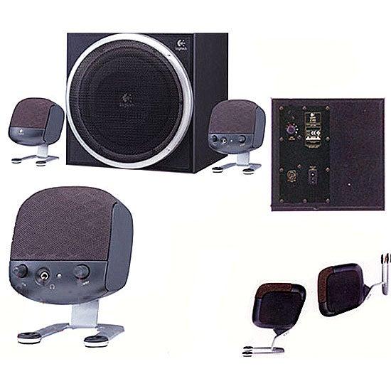 logitech z 340 speaker system with subwoofer overstock shopping great deals on logitech. Black Bedroom Furniture Sets. Home Design Ideas