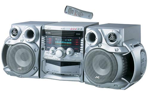 Jvc Mx Ga77 Silver 3 Disc Mini System Overstock Shopping