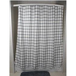 Lincoln Grey Grid Shower Curtain