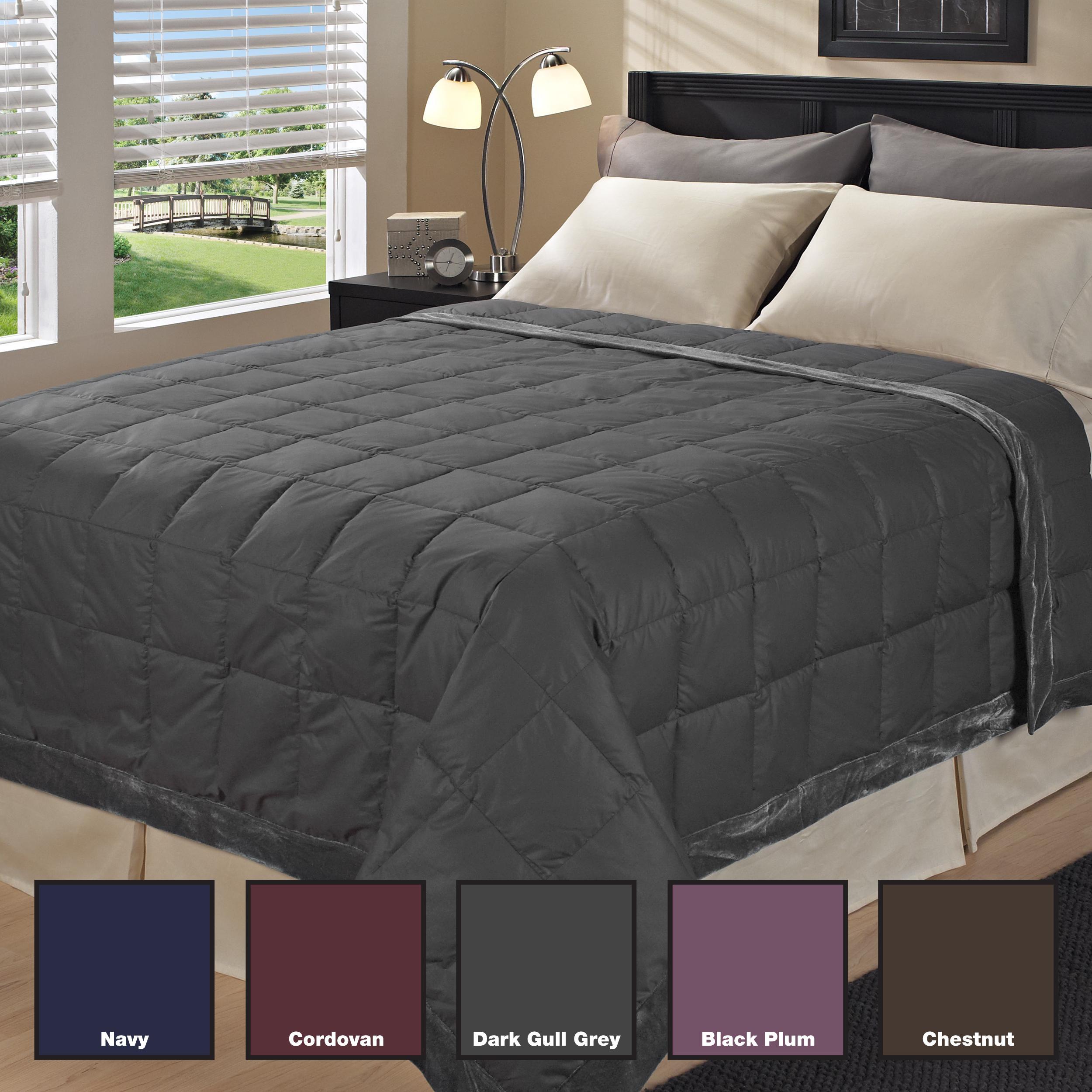 Luxurious 300 Thread Count Velvet Trim Down Blanket