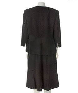 Sag Harbor Plus Size Two-piece Black Skirt Suit