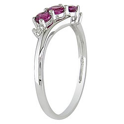 Miadora 10k White Gold Pink Tourmaline Ring