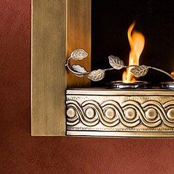 Bristol Antique Gold Wall Mount Fireplace
