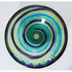DeNovo Artsy Swirl Glass Bathroom Vessel Sink