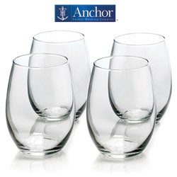 Anchor Hocking 4-piece Stemless Wine Glass Set