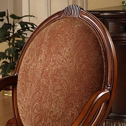 Oval-tip Burnt Paisley Arm Chair