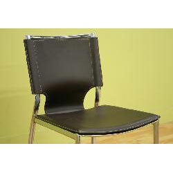Bonded Leather Dining Chairs (Set of 2)