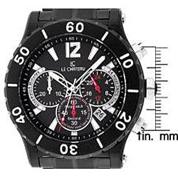 Le Chateau Dinamica Men's Black Ion-plated Sport Watch