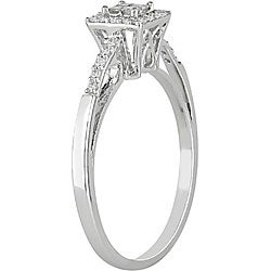 10k White Gold 1/5ct TDW Diamond Halo Ring (H-I, I1-I2)