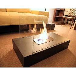 Space Steel Free-standing Indoor Fireplace