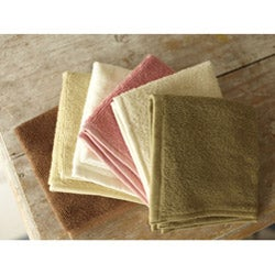 Set of 4 Organic Cotton Spa Face Towels (India)