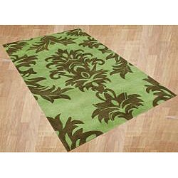 Handmade Metro Palm Green Area Rug (8' x 10')
