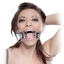 Fetish Fantasy Extreme Spider Gag with Leather Strap