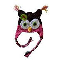 WhooHats Girl's Owl Crochet Hat