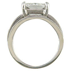 18k White Gold Certified 4 3/4ct TDW Clarity-enhanced Diamond Ring