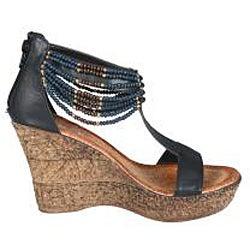 Refresh by Beston Women's 'CABY-03' T-strap Wedge Sandals
