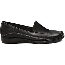 A2 by Aerosoles Women's 'Adrenaline' Black Loafers