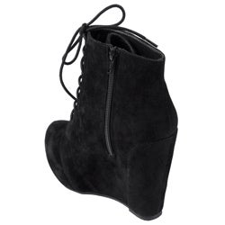 Hailey Jeans Co Women's 'Sprout' Lace-up Platform Wedge Booties