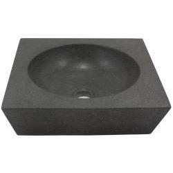 Round Incline Concrete Grey Vessel Bathroom Sink
