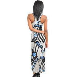 Stanzino Women's Abstract Print Tank Maxi Dress
