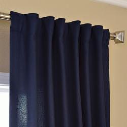 Navy Faux Cotton Cotenza Curtain Panel