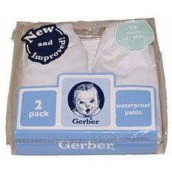 Gerber Waterproof Training Pants in White (Pack of 2)