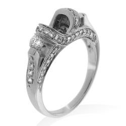 14k White Gold 5/8ct TDW Diamond Semi-mount Engagement Ring (G-H, SI1/SI2)