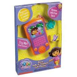 Fisher-Price Dora English and Spanish Talk and Explore Cell Phone