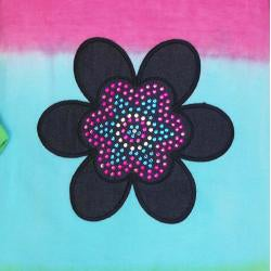 AnnLoren Girls' 2-piece Dip-dye Flower Tunic/ Leggings