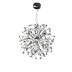Joshua Marshal Home Collection Modern 32-light Chrome Crystal Encompassed Adjustable Hanging Pendant