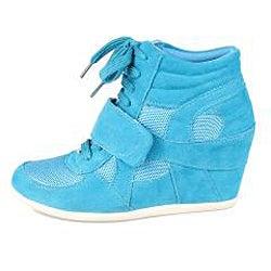 Refresh by Beston Women's 'Dakota' Teal Sneaker Booties
