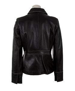 Kenneth Cole Women's Leather Jacket - Overstock  Shopping - Top