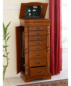 Large Oak Jewelry Armoire - Overstock™ Shopping - Great ...