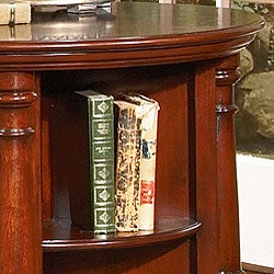 Cherry revolving book table overstock shopping great for Revolving end table