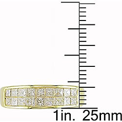 Miadora 14k Yellow Gold 1ct TDW Princess-cut Diamond Ring (G-H,I1-I2)