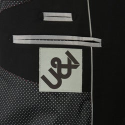 U&I Men's Solid Black Suit