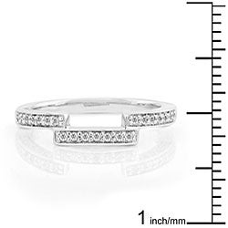 14k Gold 1/4ct TDW Round Diamond Curved Wedding Band