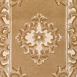Hand-knotted Ganesh Gold Wool Rug (9' x 13')