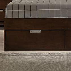Noho Warm Cherry Queen-size Platform Wall Bed Bedroom Set
