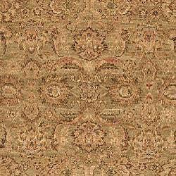Heirloom Treasures Hand-knotted Light Green Wool Rug (8' x 10')