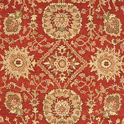 Oushak Legacy Esfan Red/ Navy Hand-spun Wool Rug (8' x 10')